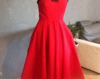 1 vintage dress. HAND MADE