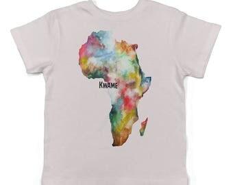 Africa Customised baby lap t-shirt