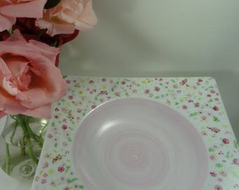 Old plate, liberty rose
