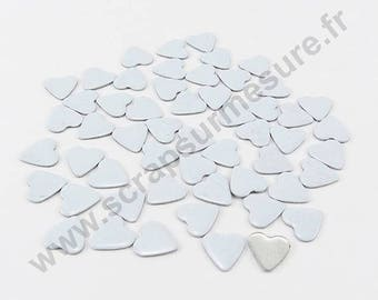 Fusible heart - white - 6mm - x 75pcs
