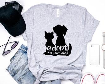 Adopt Don't Shop T-Shirt   Animal Rescue Shirt   Adopt Don't Shop   Animal Lover Shirt