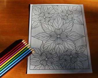 Dogwood Mandala Coloring Page
