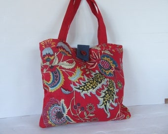 Indian fabric - fabric tote bag-