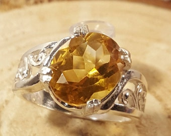 Breathtaking Citrine Solitaire Ring