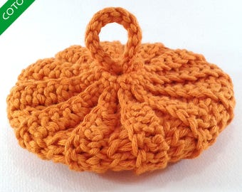 Cotton Tawashi organic saffron orange 10 cm