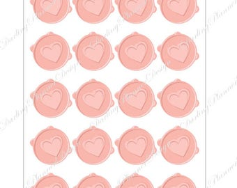 Envelope Seals - Wedding, Announcements, or Planner