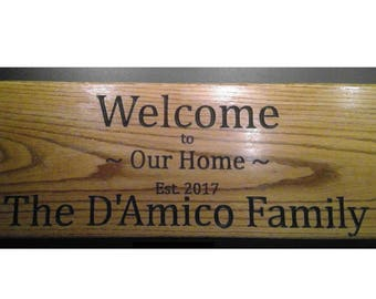 Family Name Home Sign  This is an example