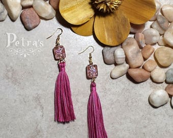 Pantallas Tassel Pretty in Pink | Tassel earrings