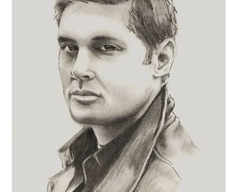 Dean Winchester Pencil Portrait