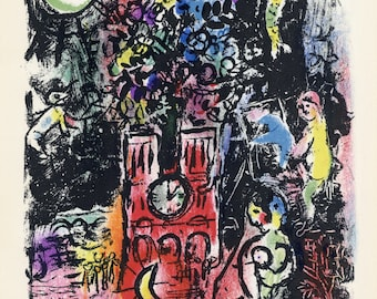 "Marc Chagall ""The Tree of Jesse"" original lithograph"
