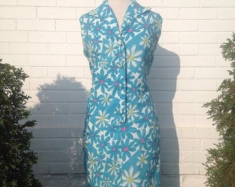 1960s Floral Shift Dress