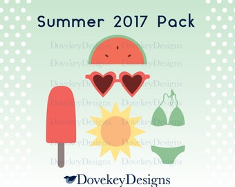Summer 2017 Pack for Cricut/Silhouette (svg)