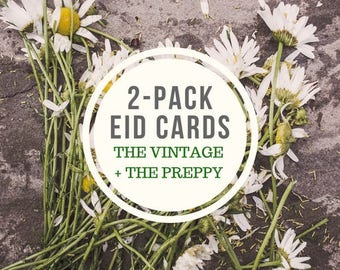 2-Pack Eid Cards (The Vintage + The Preppy)