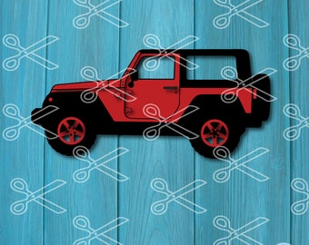 Jeep SVG, DXF, PNG, Eps Cutting Files, jeep clipart,  instant download, silhouette cut files, jeep svg files, files for cricut, jeep vector