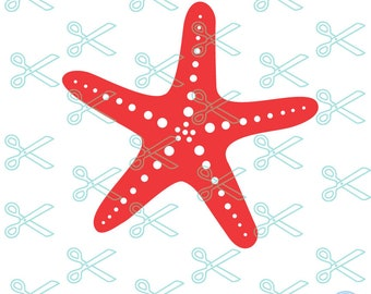Starfish SVG - PNG - DXF - Eps Cutting File for Cricut or Silhouette Cameo, beach svg cut file, summer svg file, ocean svg, Starfish Clipart
