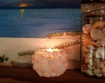 Seashell Candle Holder for the beach or anytime
