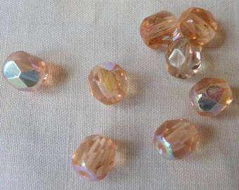 """124 6mm faceted round crystal color """"rosaline AB"""""""
