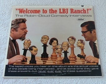 Weclome To The LJB Ranch - Earl Doud & Alen Robin - 1965 Vintage Comedy Vinyl LP - Political Humor
