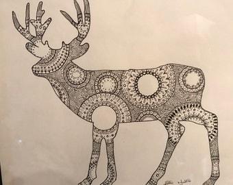 Mandala Deer Drawing