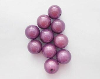 Magic pearl purple 20 mm 3D effect. (9148709)