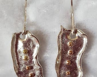 Alchemy Earrings, Sterling Silver Earrings, Mixed Metal Earrings, One of a Kind Earrings, Hand Made Earrings