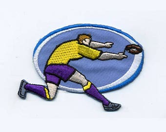 patch fusible Rugby player