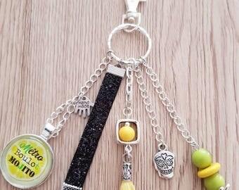 "Key/bag Organizer ""mojito"" green/yellow/black"