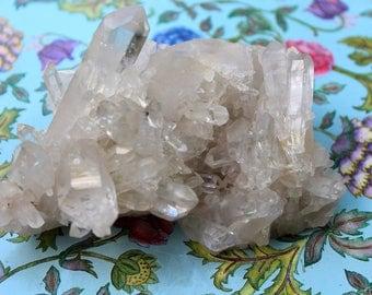 Clear Quartz Point Crystal Cluster