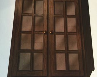 Mission Style Glass Door Book Case