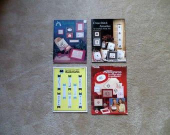 Cross Stitch / Needlepoint / Monogram Pattern Books