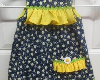Navy Daisy Dress