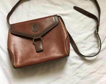Vintage Mark Cross Leather Cross-Body Bag