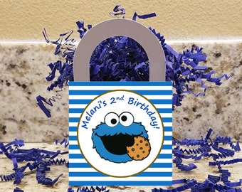 Cookie Monster Treat Boxes, Cookie Monster Popcorn Boxes, Cookie Monster Candy Boxes, Cookie Monster Party Boxes