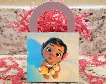 Baby Moana Treat Boxes, Baby Moana Popcorn Boxes , Baby Moana Candy Boxes, Baby Moana Party Boxes
