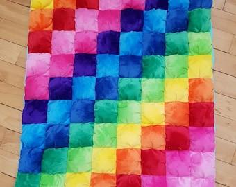Rainbow Puff Quilt
