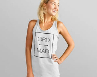 Custom Airport Code Travel Tank Top (Color Heather White)
