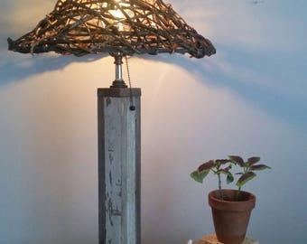 Kudzu vine lampshade