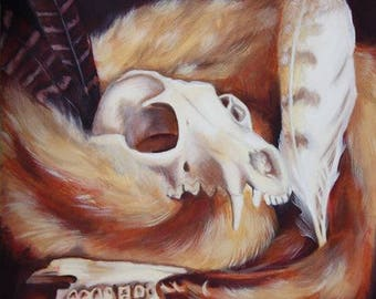 Fox and Fur Print