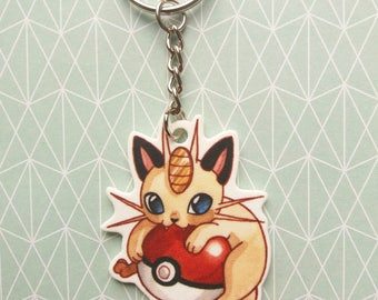 Meowth / Miaouss - Keychain / Porte-clés - Pokemon