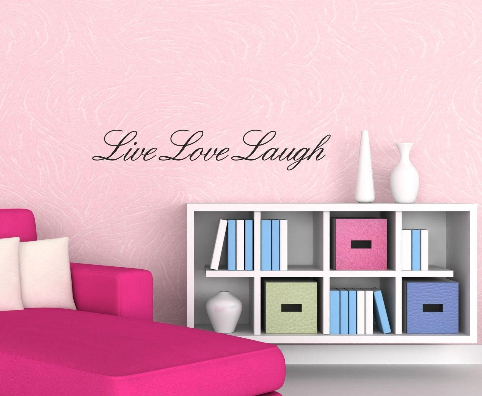 Live Love Laugh Wall Art Sticker Quote Vinyl Wall Decor Wall Decal Transfers