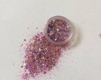 Pink Dancer Face Glitter