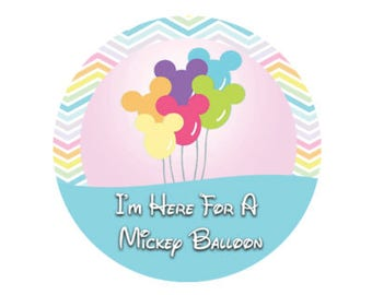 Mickey Balloon Chevron Button - Theme Park Button - Mickey Balloon Button - Disney Park Button - Mickey Balloon Button - Theme Park Pin