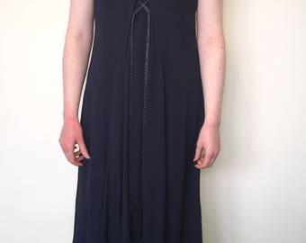 Vintage 90's Full Length Navy Dress