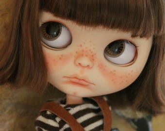 Riley.  A ooak custom Blythe, art doll. Short layaway ok!
