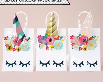 Unicorn Favor Bags/ Unicorn Birthday/ Unicorn Party Supplies/ Unicorn Goodie Bags/ Unicorn Candy Bags/ Unicorn loot/ Gift/ Goody/ Treat Bags