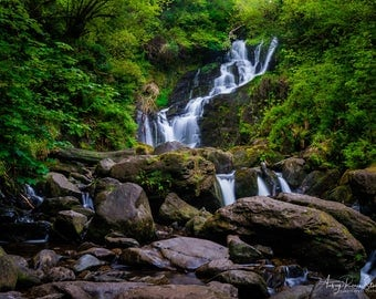 Fine Art Photography Print - Torc Waterfall in County Kerry, Ireland