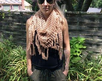 Fishnet shawl