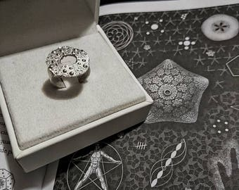 """Neptune's daughter"" Sea Urchin ring"