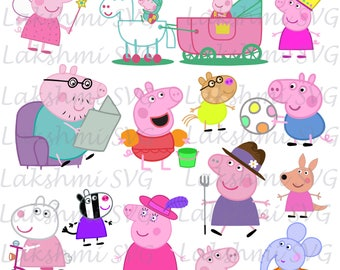 peppa pig svg,peppa svg, peppa clipart, peppa cut files, peppa pig for silhouette, files for cricut, svg, dxf, eps, cuttable design