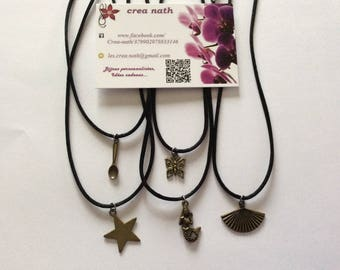 "Black ""Butterfly"" necklace-"